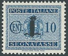 1944 RSI SEGNATASSE 10 CENT MH * - RC29-6 - 4. 1944-45 Social Republic