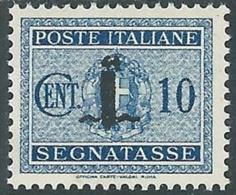 1944 RSI SEGNATASSE 10 CENT MH * - RC29-7 - 4. 1944-45 Social Republic