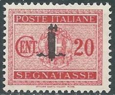 1944 RSI SEGNATASSE 20 CENT MNH ** - RC29-9 - 4. 1944-45 Social Republic