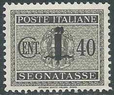 1944 RSI SEGNATASSE 40 CENT MNH ** - RC29-6 - 4. 1944-45 Social Republic