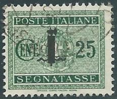 1944 RSI SEGNATASSE USATO 25 CENT - RC13-4 - 4. 1944-45 Social Republic