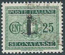 1944 RSI SEGNATASSE USATO 25 CENT - RC13-9 - 4. 1944-45 Social Republic
