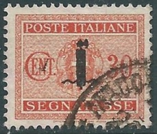 1944 RSI SEGNATASSE USATO 30 CENT - RC13-4 - 4. 1944-45 Social Republic