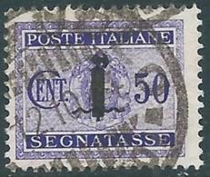 1944 RSI SEGNATASSE USATO 50 CENT - RC13-4 - 4. 1944-45 Social Republic