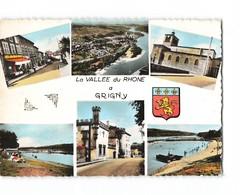 69 Grigny La Vallée Du Rhone Carte 6 Vues Blason CPSM GF - Grigny
