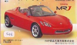 Télécarte JAPON *  TOYOTA *  (1668) *  Phonecard JAPAN * VOITURE * Auto CAR * TELEFONKARTE - Cars