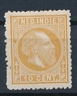 Nederlands Indië - 1868 - 10 Cent Willem III, Proef 20c - Flets Geelbruin - Niederländisch-Indien