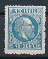 Nederlands Indië - 1868 - 10 Cent Willem III, Proef 20e - Grijsblauw - Niederländisch-Indien
