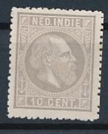 Nederlands Indië - 1868 - 10 Cent Willem III, Proef 20l - Licht Lilagrijs - Niederländisch-Indien