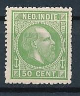 Nederlands Indië - 1868 - 50 Cent Willem III, Proef 22a - Geelgroen - Niederländisch-Indien