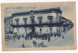Cartolina-Postcard, Viaggiata (sent), Saluti Da Augusta, Palazzo Municipale - Italië