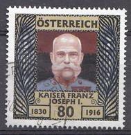 Autriche 2016  Mi.Nr: 3282 Todestag Von Kaiser Franz Joseph  Oblitèré / Used / Gebruikt - 1945-.... 2ème République