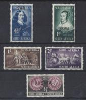 "SOUTH WEST AFRICA....QUEEN ELIZABETH II.(1952-NOW.)....."" 1952.."".....VAN RIEBEECH.....SET OF 4......MNH... - South West Africa (1923-1990)"