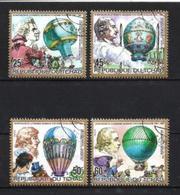 TCHAD BALLONS ET DIRIGEABLES 1983 (1) N° Yvert 408 à 411 Oblitéré Used - Tchad (1960-...)