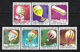 VIETNAM BALLONS ET DIRIGEABLES 1983 (7) N° Yvert 394 à 400 Oblitéré Used - Viêt-Nam