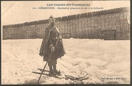 """CPA 88 Gérardmer N°121- Gendarme Prussien En Ski à La Schlucht, Série """"Vosges Pittoresques"""" 1916 - Gerardmer"""
