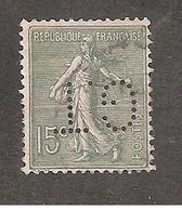 Perforé/perfin/lochung France No 130 G.T Guaranty Trust Company - Perforés