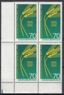 BERLIN 516, 4erBlock Eckrand Unten Links, Postfrisch **, 50 Jahre Grüne Woche 1976 - Berlin (West)