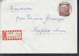 BRD 262 Xv EF, Auf R-Orts-Brief, Gestempelt: Krefeld-Linn 29.11.1957 - BRD
