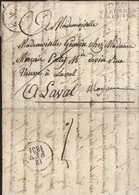 Allier Marque Postale P.3.P. Varennes L'Allier (28x12,5) Port Payé Dos 12 Fev 1831 Lettre De Famille En PP Gayette Rare - 1801-1848: Précurseurs XIX