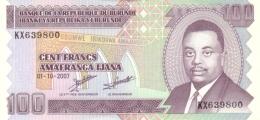 Burundi (BRB) 100 Francs 2007 UNC Cat No. P-37f / BI223f - Burundi