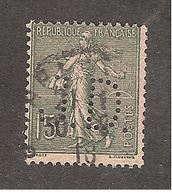 Perforé/perfin/lochung France No 130 J.D. (35) - Perforés