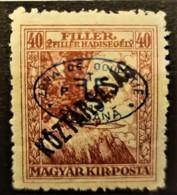 HUNGARY 1919 / ROMANIAN OCCUPATION - MLH - Sc# 2NB6 - 40+2f - Szeged