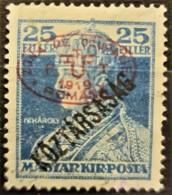 HUNGARY 1919 / ROMANIAN OCCUPATION - MLH - Sc# 2N49 - 25f - Szeged