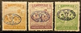 HUNGARY 1919 / ROMANIAN OCCUPATION - MLH - Sc# 2N6, 2N7, 2N8 - 2f 3f 5f - Szeged