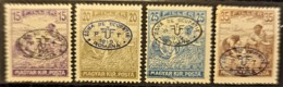 HUNGARY 1919 / ROMANIAN OCCUPATION - MLH - Sc# 2N10, 2N11, 2N12, 2N13 - 15f 20f 25f 35f - Szeged