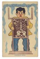 CPA 94 VILLECRESNES Carte à Système Fantaisie Dépliant Vues Squelette Oubli Montre Pas Courante - Villecresnes
