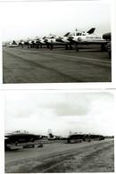 Juin 1958 - 14 Photos - Liège Meeting Des Nations - Avions Militaires - Roi Baudoin / Général Franz Burniaux - 7 Scans - Aviazione