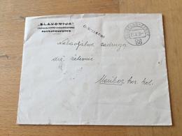K2 Jugoslawien 1935 Brief Mit Bahnpost Grobelno - Zabok Nach Maribor - 1931-1941 Kingdom Of Yugoslavia