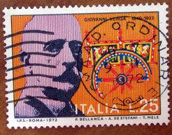 1972 ITALIA Giovanni Verga  - Lire 25 Usato - 1971-80: Gebraucht