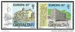 Gibraltar 1987. Michel #519/20 MNH/Luxe. Europa-CEPT. Modern Architecture. - Architecture