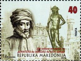 REPUBLIC OF MACEDONIA, 2016, STAMP, MICHEL 751- DONATELLO ** - Skulpturen