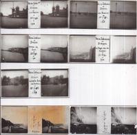 DIEPPE - 5 Plaques Stéréo Format 42 X 105 Mm + 2 MERS Les BAINS - Diapositiva Su Vetro