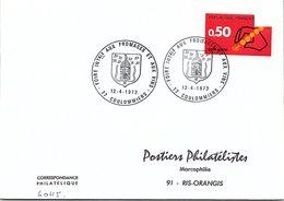 VINS CHAMPAGNE - CACHET FOIRE INTERNATIONALE FROMAGES ET VINS  COULOMMIERS 12.4.1973  / 3 - Marcofilia (sobres)