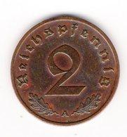 DEUTSCHES REICH - 2 REICHSPFENNIG - 1939  A - [ 4] 1933-1945 : Third Reich
