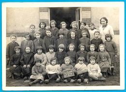 PHOTO Photographie - Enfants - A L' ECOLE (en Sabots) De LA CHAPELLE-SAINT-REMY 2ème Classe St 72 Sarthe - Unclassified