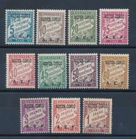 CONGO FRANCAIS - TAXE N° 1/11 NEUFS* AVEC CHARNIERE - 1928 - Ungebraucht