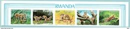 "Rwanda 1987 "" Léopard - Superbe Série ND / Imperf. Se Tenant Rare - Mnh*** - Felinos"