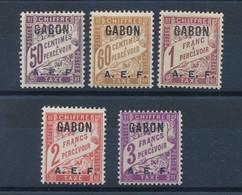 GABON - TAXE N° 7/11 NEUFS* AVEC CHARNIERE - 1928 - Gabun (1886-1936)