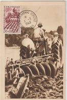 CPA   TRACTEUR   CARTE SALON DE LA MACHINE AGRICOLE PARIS 1949  BELLE OBLITERATION - Tracteurs