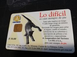 CUBA $10,00 CHIPCARD   Fine Used Card  ** 1661** - Kuba