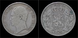 Leopold I 5 Frank 1865 - 1831-1865: Leopold I