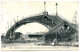 75019 Paris - La Grande Passerelle Prise De La Rue De La Moselle - Les Chantiers - Arrondissement: 19
