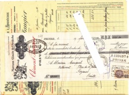 07 - Ardèche - Faugier Marrons Glacés Privas 1932 Confitures - Facture + Mandat  Avec Timbre Fiscal - France