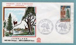 FDC France 1968 - Jumelage De La Forêt De Rambouillet Et De La Forêt Noire - YT 1561 - 78 Rambouillet - FDC