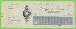 Lisboa - Cheque Do Banco Borges & Irmão - Publicidade - Portugal - Chèques & Chèques De Voyage